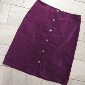 Charter Club   purple midi skirt
